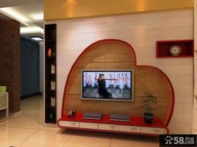桃心电视墙设计效果图