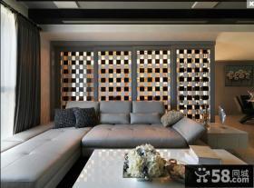 现代风格客厅沙发背景墙装修效果图大全