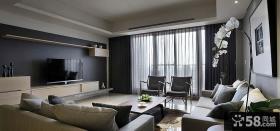 后现代美式风格客厅电视背景墙效果图欣赏