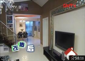 交换空间现代复式楼客厅电视背景墙效果图