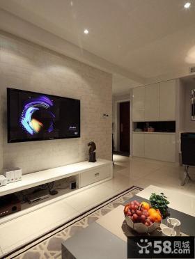 简约时尚电视背景墙装修效果图大全2014