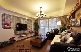 美式田园风格客厅电视背景墙效果图