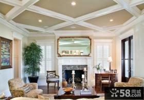 120平米房屋装修效果图欧式客厅吊顶