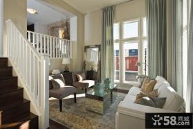 简欧复式楼客厅装修效果图欣赏