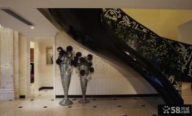 黑色摩登欧式家居楼梯设计
