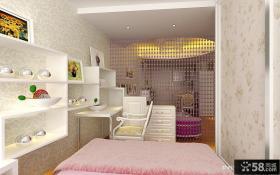 小户型欧式风格粉色系卧室装修效果图