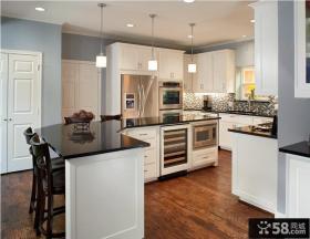 开放式厨房半圆厨房装修设计图片