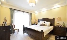 复古美式风格卧室装饰效果图