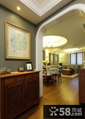 室内玄关装修抽象装饰画图片