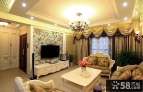 欧式客厅壁纸电视背景墙效果图片