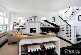 现代风格别墅大厅整体装修设计图片
