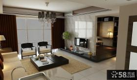 现代客厅电视背景墙隔断装修效果图