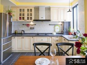 欧式复古设计别墅室内厨房效果图