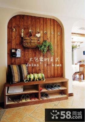 美式风格玄关鞋柜装修效果图