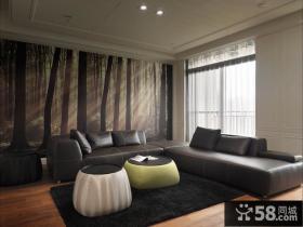 美式时尚沙发背景墙