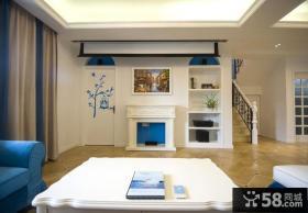 地中海家居客厅背景墙面装饰图片欣赏