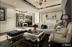 欧式新古典风格客厅装修效果图大全