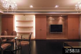 简单现代风格电视背景墙设计