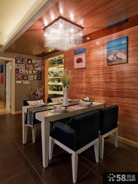 日式简约风格三居室餐厅吊顶效果图