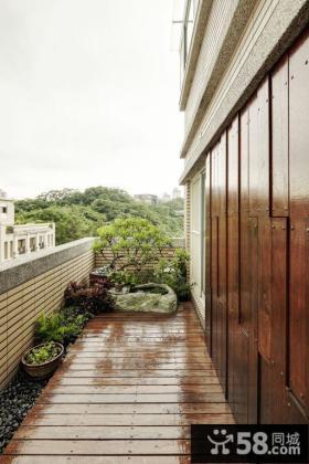 现代家居别墅室外阳台效果图