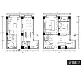 现代简约风格复式楼户型图