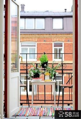 客厅小阳台设计大全