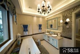 地中海风格设计别墅室内浴室图片