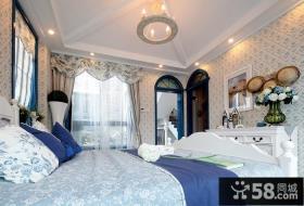 地中海风格别墅卧室效果图