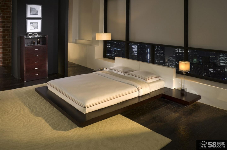 日式卧室装修效果图大全2015图片