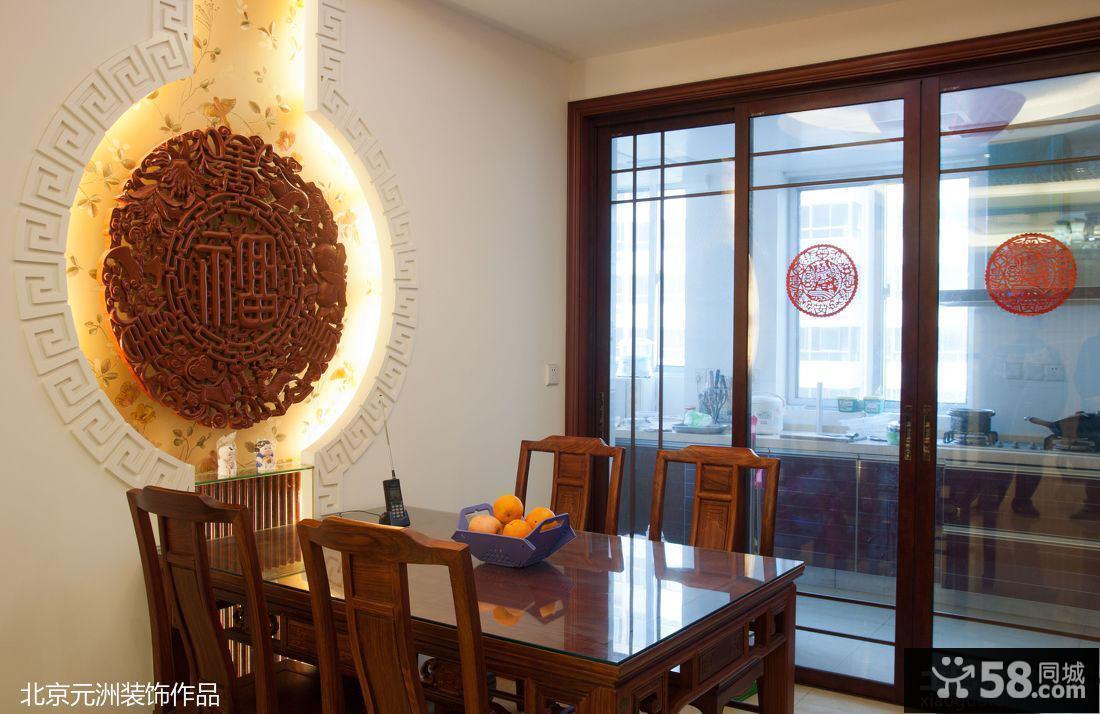 中式餐厅背景装修效果图