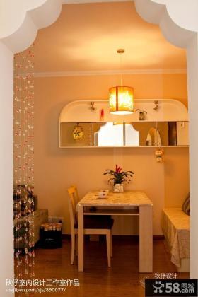 现代小户型小餐桌吊灯装饰效果图