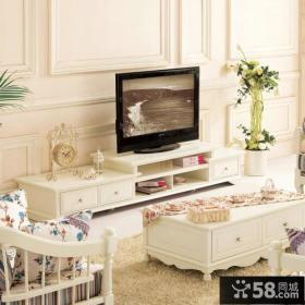 简欧设计电视背景墙图