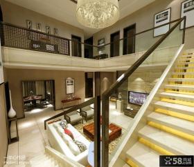 别墅内部楼梯装修效果图