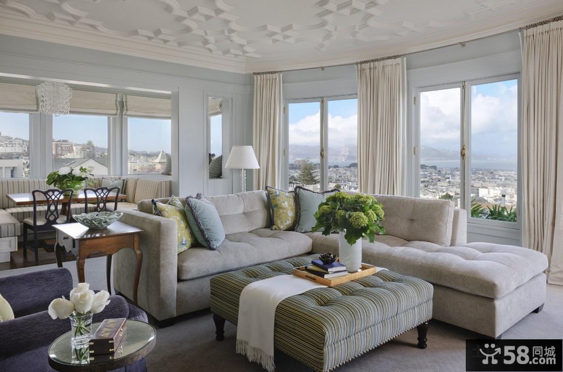 简欧客厅沙发装饰效果图高清图片