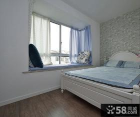 地中海装饰卧室飘窗效果图
