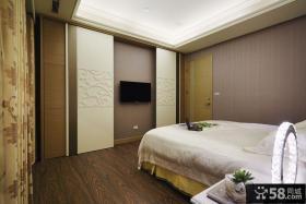 现代古典风格时尚卧室电视背景墙图片