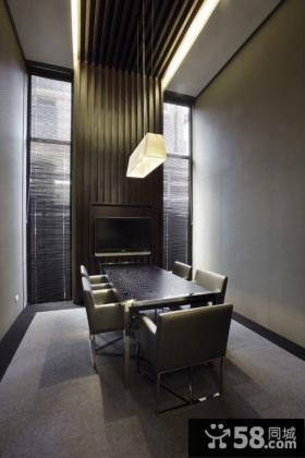 后现代风格住宅餐厅室内设计效果图