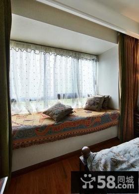 室内美式卧室飘窗大全