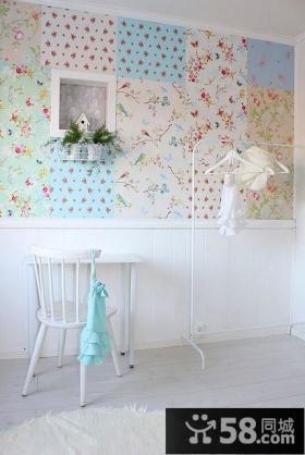 Lisbeth悠闲生活手工之家白色田园客厅背景墙家居