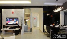 现代风格室内客厅餐厅过道装修设计