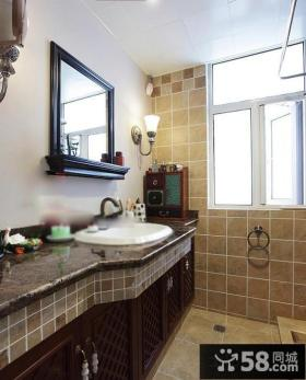 美式仿古瓷砖卫生间装修图片大全