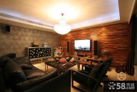 优质现代装修风格客厅电视背景墙效果图
