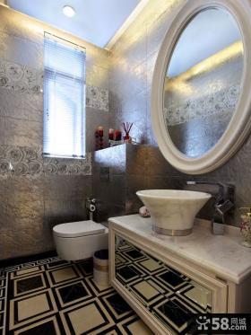 欧式卫生间瓷砖效果图片欣赏