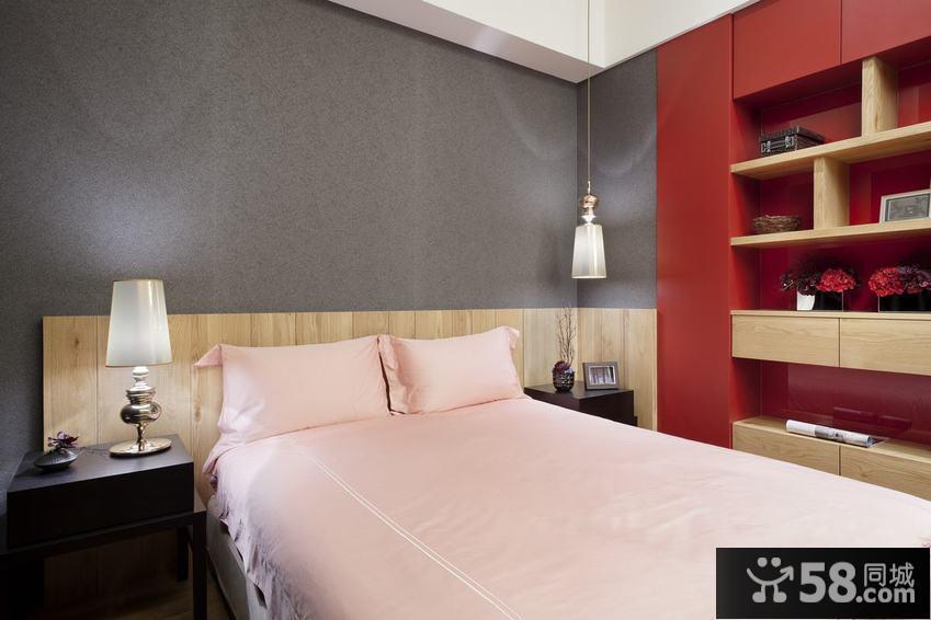 现代简约风格床头背景墙