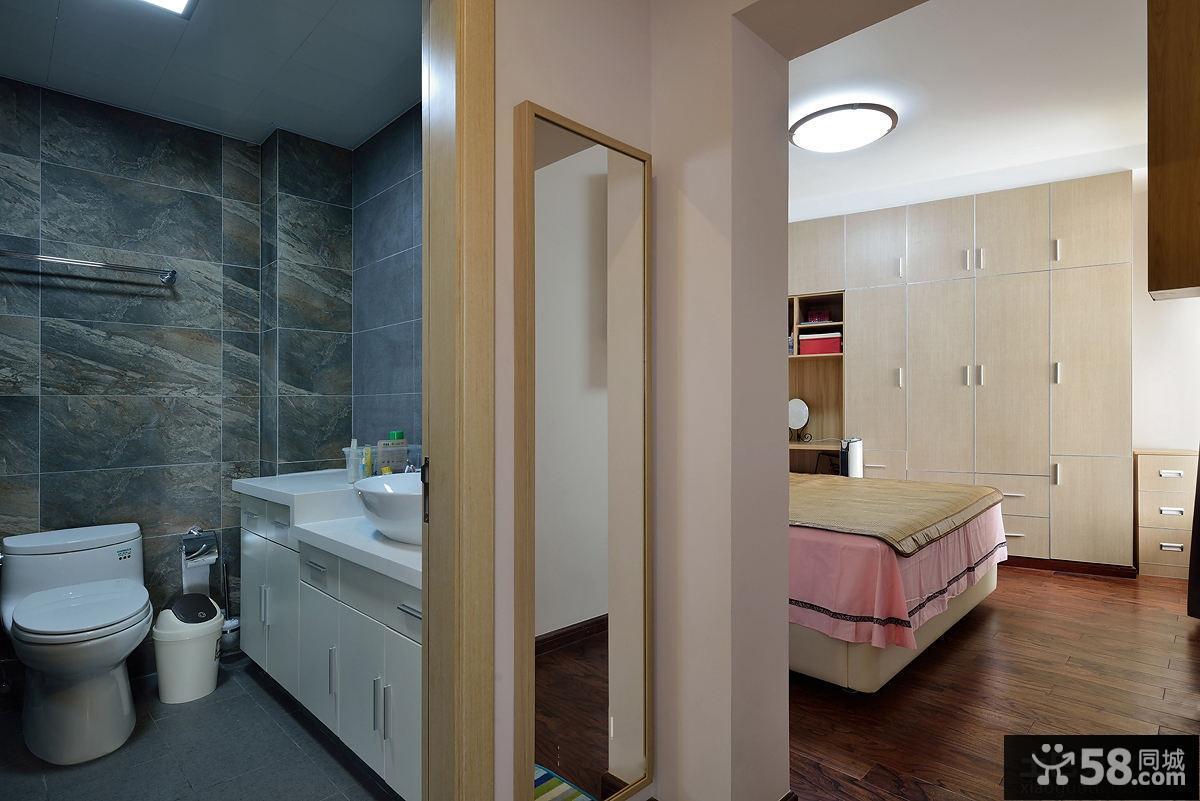 房间卫生间隔断无隔断卫生间图片15