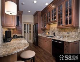 8万打造89平米北欧风格厨房装修效果图大全2014图片