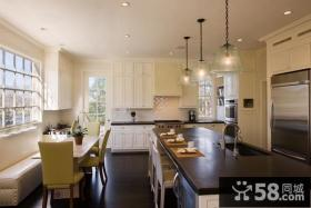 简欧风格开放式厨房装修效果图