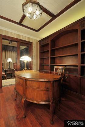 纯正美式风格书房装修效果图大全