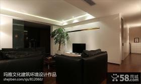 简约100平米房屋客厅电视背景墙效果图