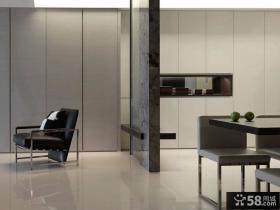 现代一居室家装设计效果图
